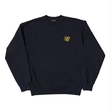 BRONZE EMBROIDERED B LOGO CREW NECK - NAVY