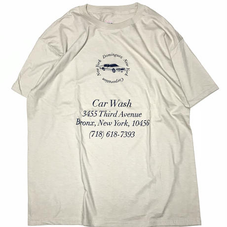 THE DOMINGUEZ CORP CAR WASH TEE - SAND/NAVY