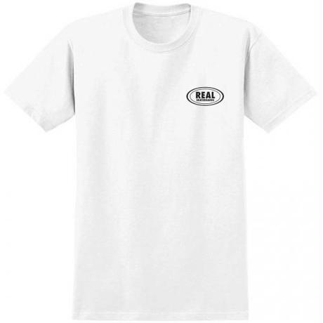 REAL SKATEBOARDS Real Small Oval T-Shirt - White/Black