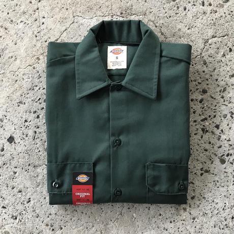 DICKIES Short Sleeve Work Shirt - Hunter Green