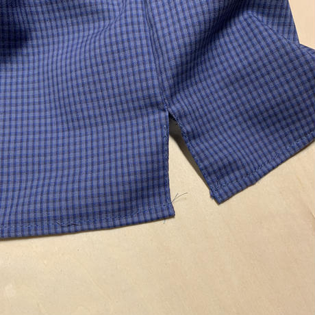 REDKAP REMAKE S/S SHIRT - CHECK (GREY/BLUE)
