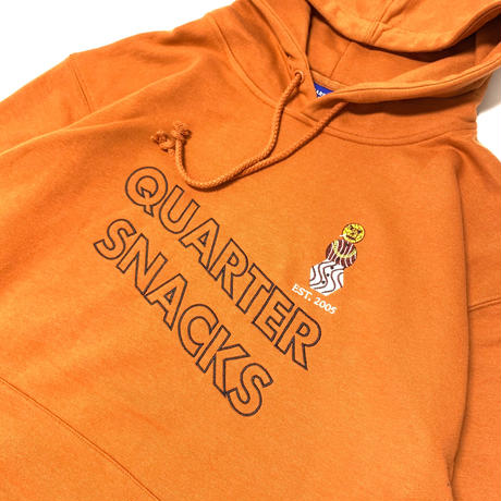 QUARTERSNACKS SNACKMAN HOODY-RUST