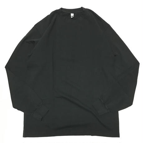 LOS ANGELES APPAREL 6.5oz Garment Dye L/S Tee - Black
