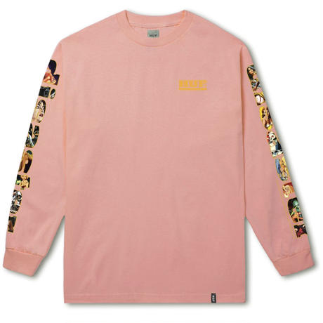 HUF DISASTER LONG SLEEVE TEE - CORAL HAZE