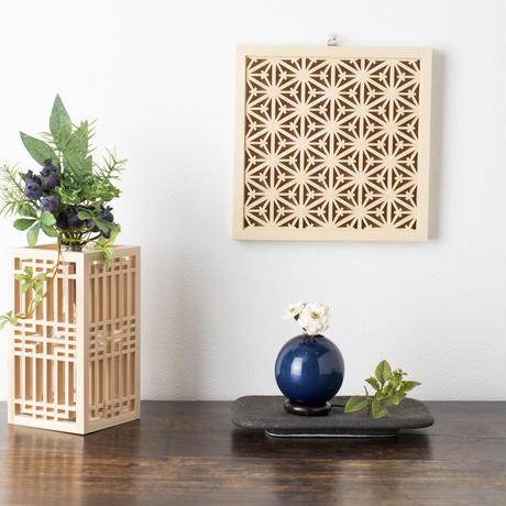 Wall decor -ツノ麻の葉  Tsuno Asanoha-