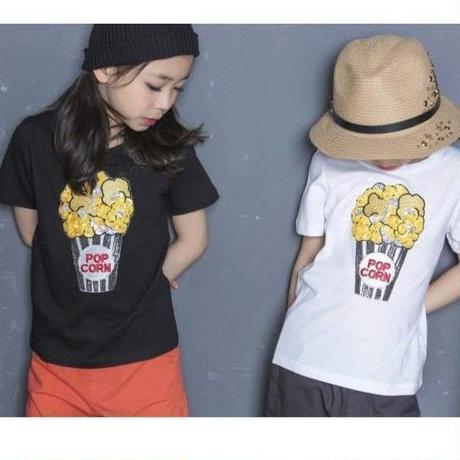 BISKET ラメポップコーンTシャツ