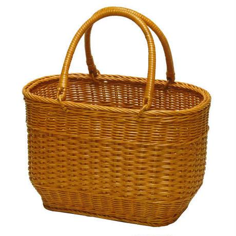 型番816  ラタン(籐)のかごバッグ・手編みかごバッグ・ピクニック(行楽)バスケット 【かごのお店ラッセルSTORES】