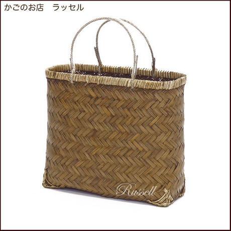 型番547 (547)竹かご 市場かご 一閑張り材料 かごバッグ 趣味アレンジ 【かごのお店ラッセルSTORES】