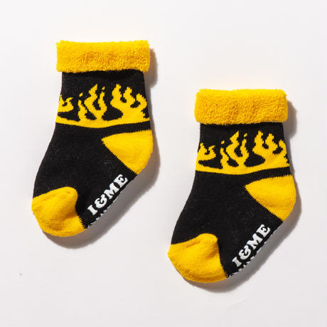 FLAME BABY SOCKS SET(RUTSUBO×I&ME )1Pack 3Pieces