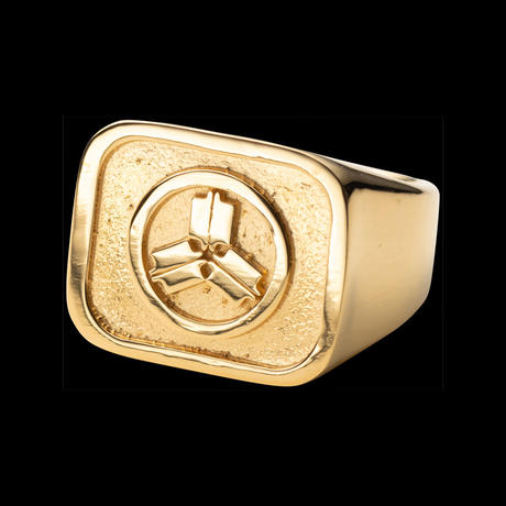 KAMON SIGNET RING Made by IN-PUT-OUT