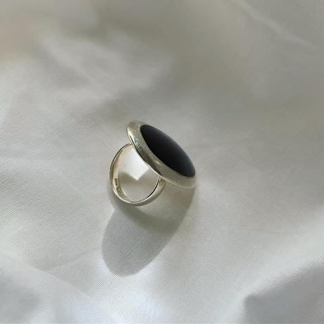 vintage Mexico silver onyx ring