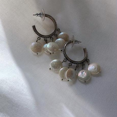 vintage mother of pearl silver pierce