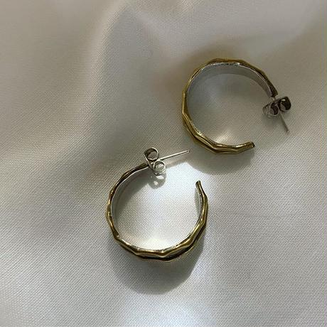 vintage mexico silver  hoop pierce