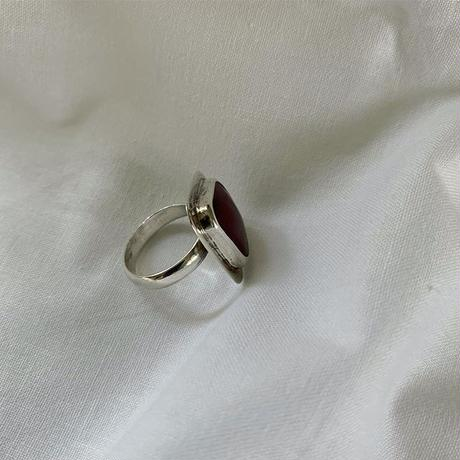 vintage  Mexico silver Red Jasper  ring