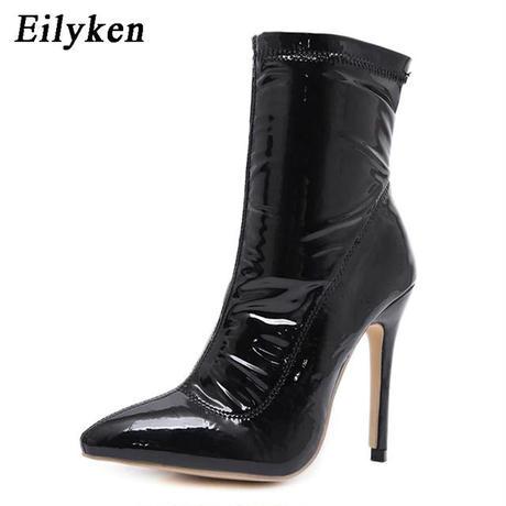 【Eilyken】エナメルショートブーツ