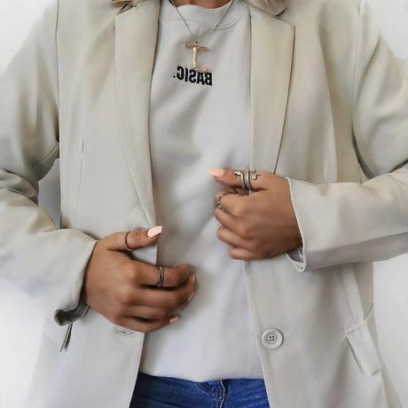 UK発 MISSYENPIRE ヌード スローガン オーバーサイズ スウェット 長袖
