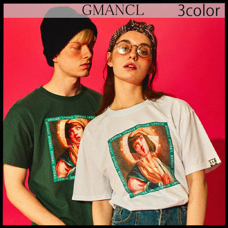 【GMANCL】3color マリアプリント半袖Tシャツ