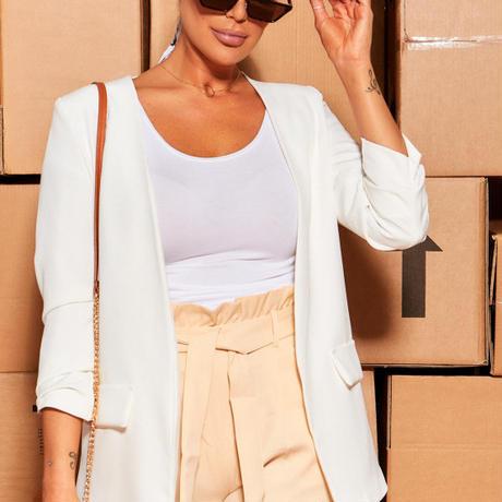 UK発 MISSYENPIRE ホワイト テーラードジャケット ブレザー
