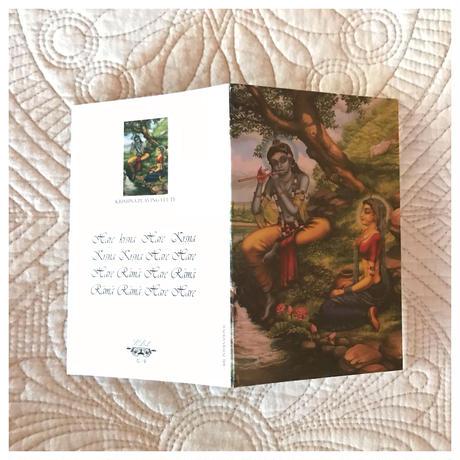 ラーダークリシュナアートカード