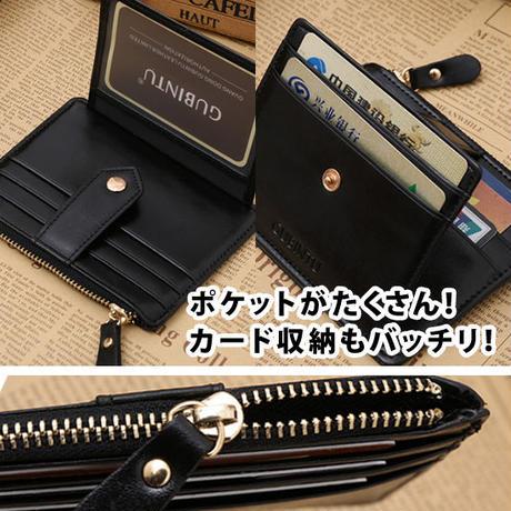 マルチ ジッパー コインケース ウォレット 財布 コンパクト カード 3カラー