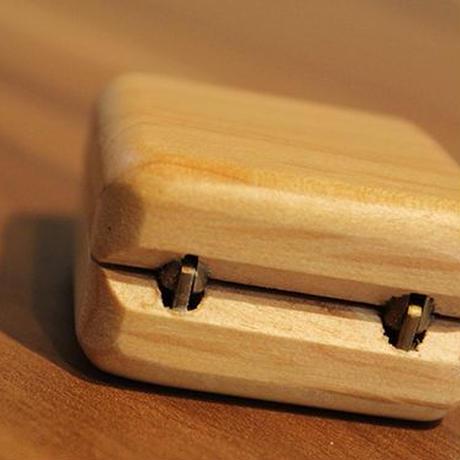 木のぬくもり 木製アクセサリーケース 2個セット