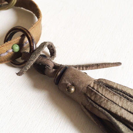 Leather Tassel Charm