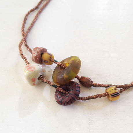 Copper Beads/ Long