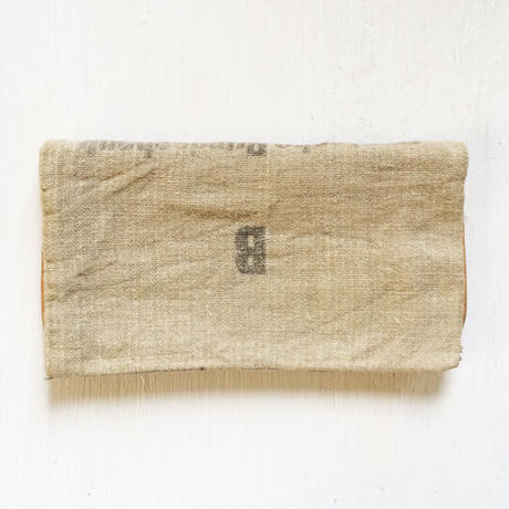 Linen & Leather Wallet/ Upcycle