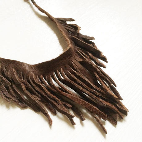 Leather Fringe Necklece