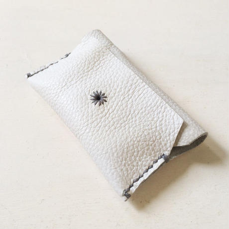 Leather Card Case/ WHITE-b