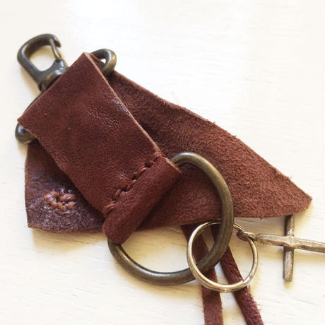 Leather Keyring/ Rough
