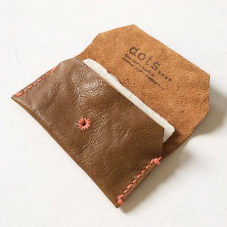 Leather Card Case/ BROWN-b