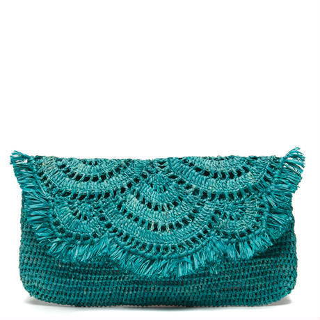 Mar Y Sol _ Giselle  Clutch (天然ラフィアのクラッチバッグ)