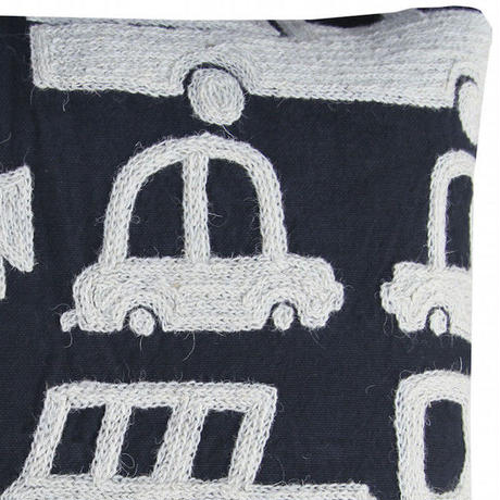 TIKAU_Brum Brum Cushion Cover Black
