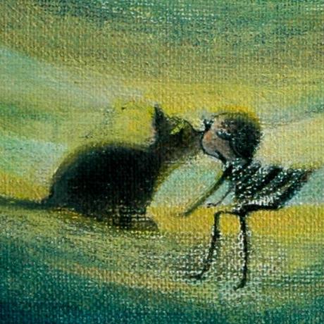 F3-031119 可愛い子猫(子犬)と女の子