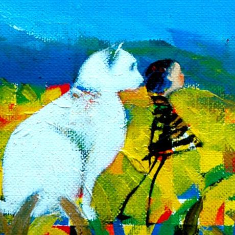 F4-072119 可愛い子猫(子犬)と女の子