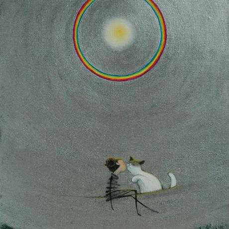 F3-031019 可愛い子猫(子犬)と女の子