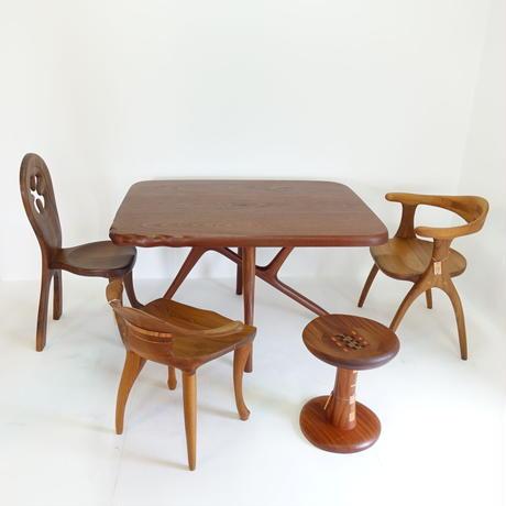 クロス脚食卓テーブル