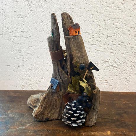 【ミニチュアアート】そのまま飾れる流木オブジェ ―流木の住人―