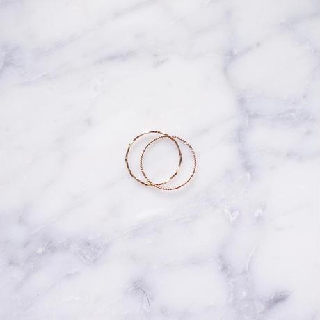 【10K】 One stone thin ring_ 2連