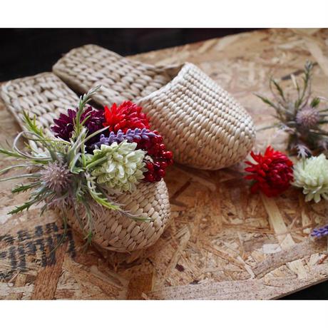 【完成品】お花のスリッパキット_赤い木ノ実