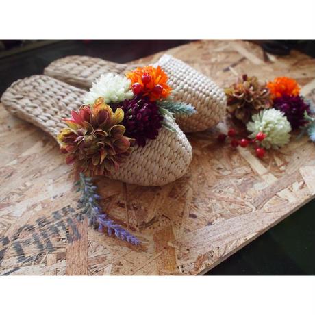 【完成品】お花のスリッパキット_European Garden