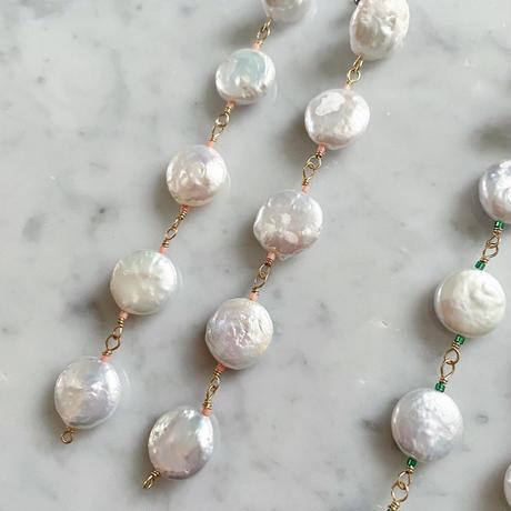【LIBERTY】_Candy pearls :Dancing_Long ピアス / イヤリング _Rose pink