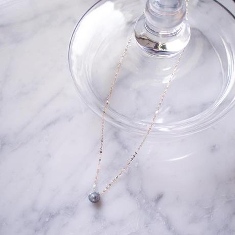 【10K】 Thin Necklace _ ラブラドライト