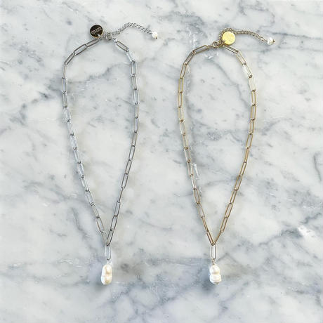 【LIBERTY】_Candy pearls :Chunky chain_Necklace (G)210101 / (S)210102