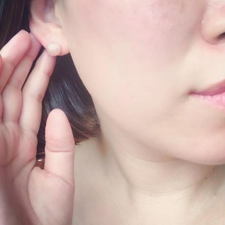 【10K】 Simple pearl pierce _ Roseピンク