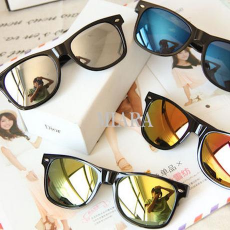 高品質 UV400 紫外線99.9%カットミラーサングラス
