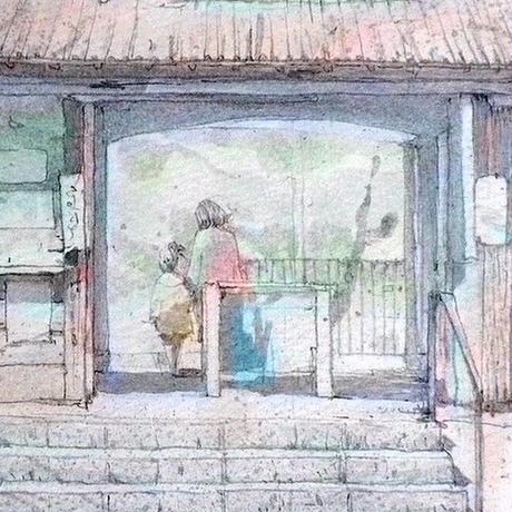 小春日に(鎌倉、江ノ電 極楽寺駅)