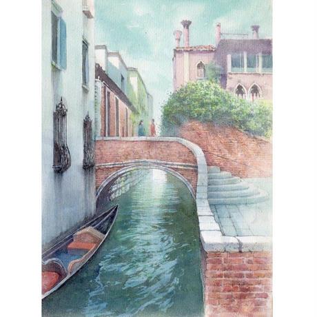 橋の上で(ヴェネツィア)