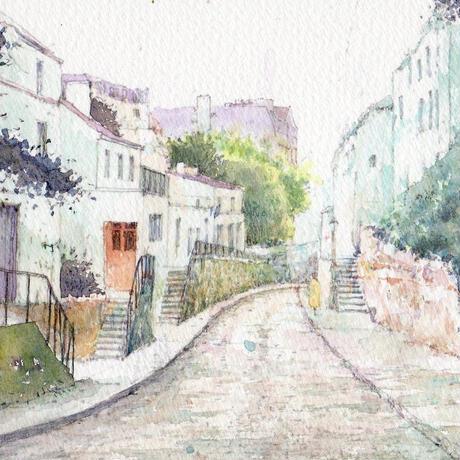 丘へぬける道(パリ・モンマルトル)